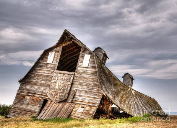 Barn Poster featuring the photograph End Of An Era 4 by Vivian Christopher
