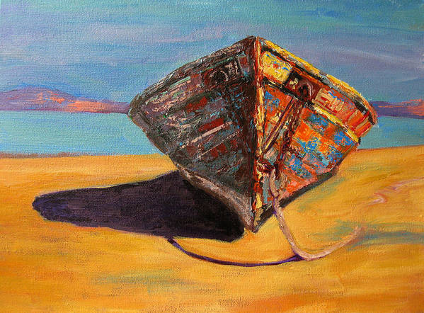 Boat Poster featuring the painting Endurance by Patricia Awapara