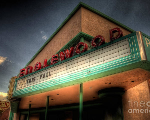 Englewood Poster featuring the photograph Englewood Theater 4507 by Timothy Bischoff