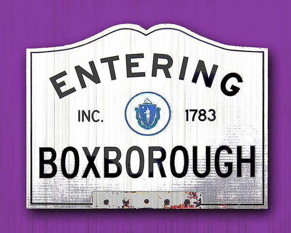Boxborough Poster featuring the photograph Entering Boxborough by K Hines