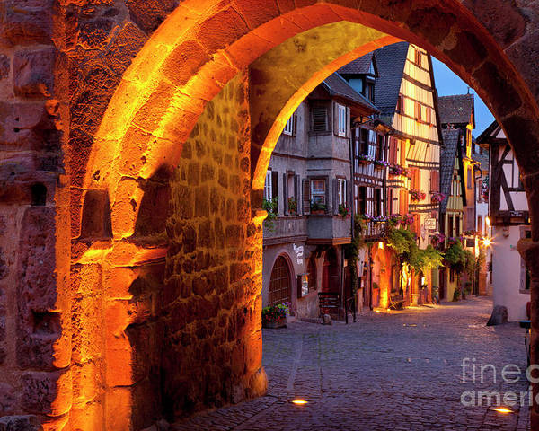 Riquewihr Poster featuring the photograph Entry To Riquewihr by Brian Jannsen