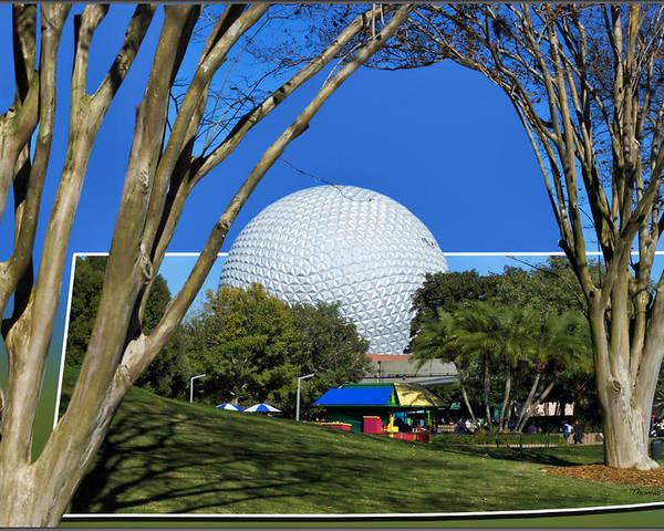 Out Of Bounds Poster featuring the photograph Epcot Globe 02 by Thomas Woolworth