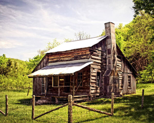 Log Cabin Poster featuring the photograph Erbie Homestead by Marty Koch