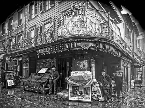 Saloon Poster featuring the photograph Ernst Roebers Saloon - Manhattan - 1908 by Daniel Hagerman