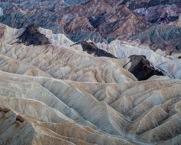Death Valley Poster featuring the photograph Erosional Landscape - Zabriskie Point by George Buxbaum