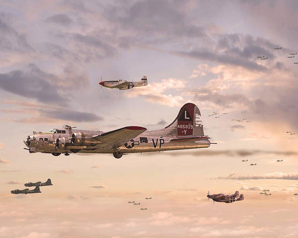 Aircraft Poster featuring the digital art Escort Service by Pat Speirs