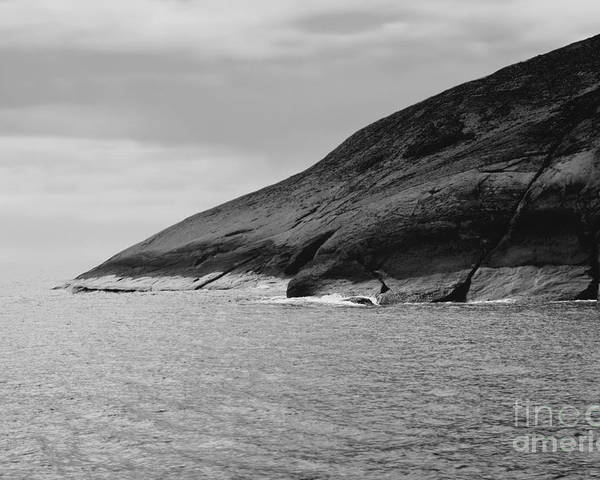 Black And White Photo Poster featuring the digital art Esperance Rock Bw by Tim Richards