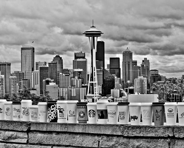 Seattle Poster featuring the photograph Espresso City by Benjamin Yeager