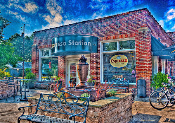 Espresso Station Poster featuring the photograph Espresso Station by Glenn Gemmell