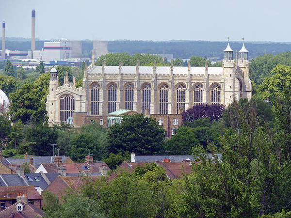 Windsor Poster featuring the photograph Eton College Chapel by Tony Murtagh