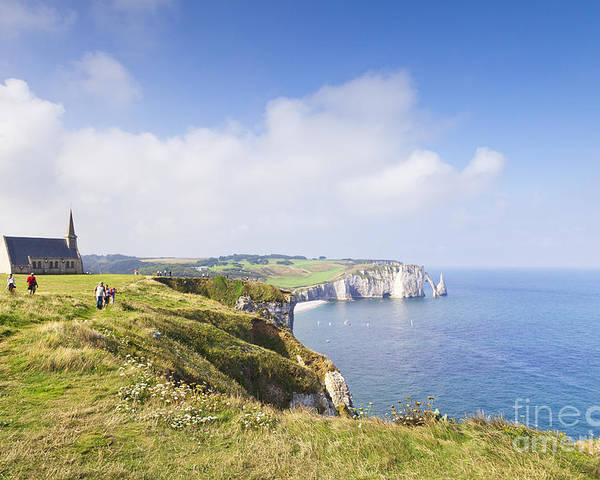 Church Poster featuring the photograph Etretat by Colin and Linda McKie
