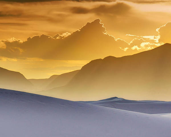White Sands Poster featuring the photograph Evening Stillness - White Sands Sunset by Nikolyn McDonald