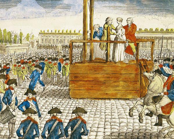 Execution Of Marie Antoinette 1755 93 In The Place De La