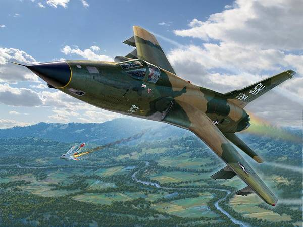 F-105 Poster featuring the digital art F-105d Thunderchief Mary Kay by Stu Shepherd