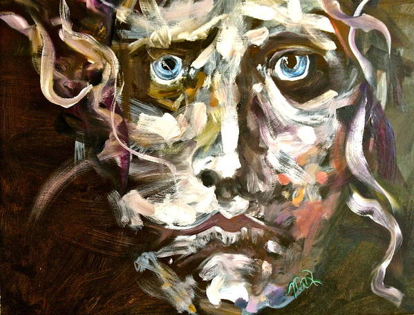 Poster featuring the painting Face Series 3 by Michelle Dommer