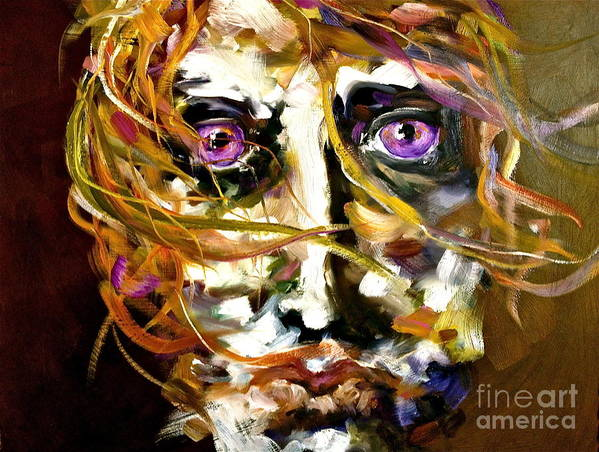 Sublime Poster featuring the painting Face Series 4 Knowing by Michelle Dommer
