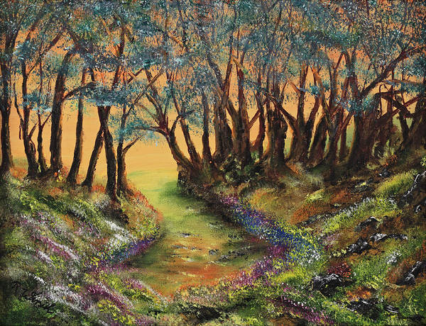 Faeries Poster featuring the painting Faerie's Copse by Regina Wirsich Roberts