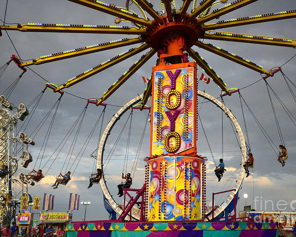 Poster featuring the photograph Fairground Fun 4 by Bob Christopher