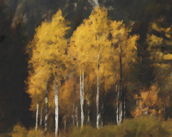 Fall Poster featuring the painting Fall Colors In Washington Cascades by Paddrick Mackin