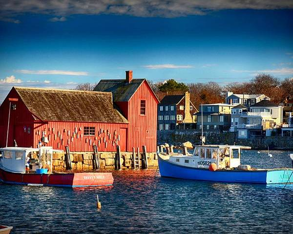Atlantic Ocean Poster featuring the photograph Fall Comes To Rockport by Tricia Marchlik
