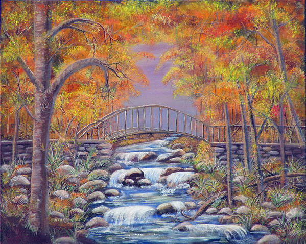 Autumn Poster featuring the painting Fall Falling by Mikki Alhart
