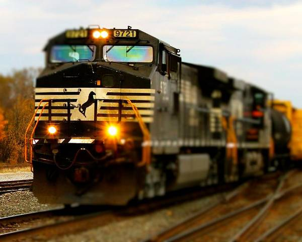 Train Poster featuring the photograph Fall Train by Matthew Modena