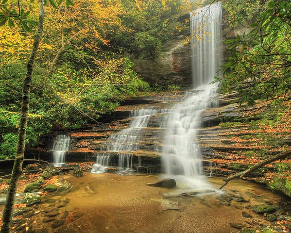 Waterfall Poster featuring the photograph Fall Water by Doug McPherson