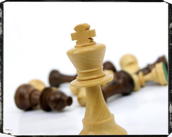 Chese Poster featuring the photograph Falling Chess Piece by Bernard Jaubert