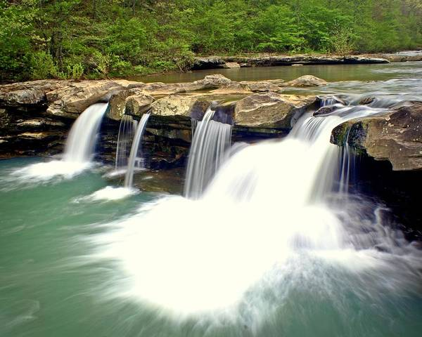 Waterfall Poster featuring the photograph Falling Waters Falls 4 by Marty Koch