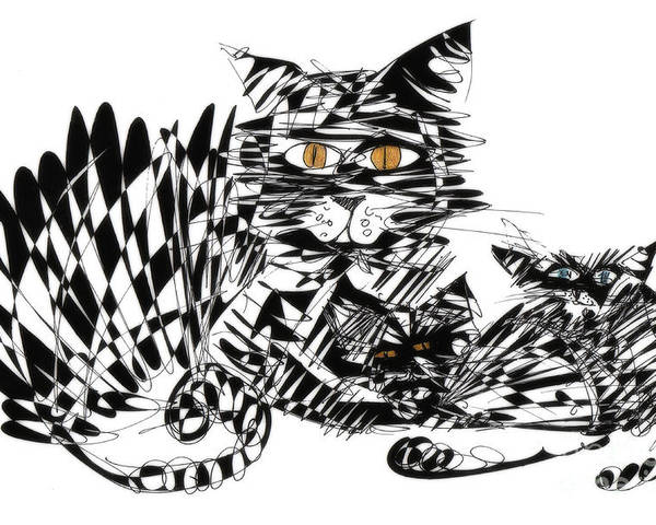 Cat Art Poster featuring the photograph Family Cat by Justyna JBJart