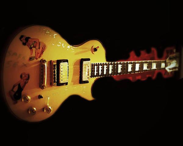 Steve Jones Poster featuring the photograph Famous Guitar by Patricia Januszkiewicz