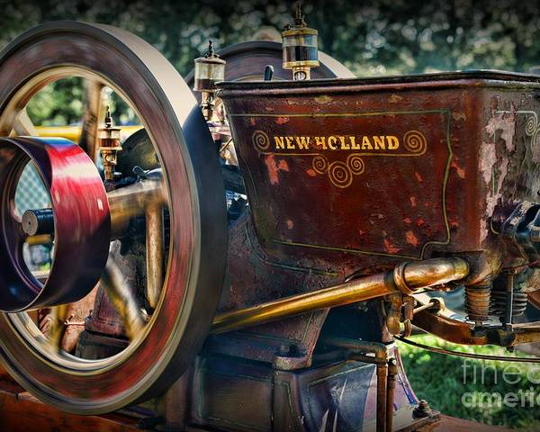 Paul Ward Poster featuring the photograph Farm Equipment - New Holland Feed And Cob Mill by Paul Ward