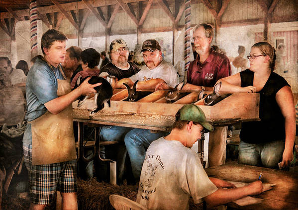 Savad Poster featuring the photograph Farm - Farmer - By The Pound by Mike Savad