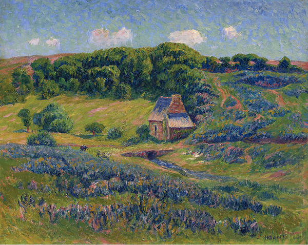 Henry Moret Poster featuring the painting Farm In Bretonne Campagne by Henry Moret