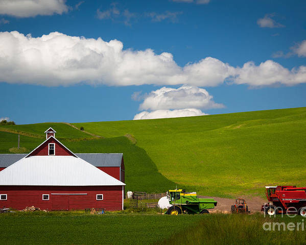 America Poster featuring the photograph Farm Machinery by Inge Johnsson
