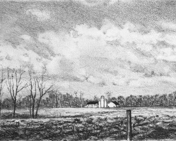 Farm Poster featuring the drawing Farm by Robert Tracy