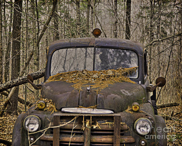Maine Poster featuring the photograph Farmers Old Work Truck by Alana Ranney