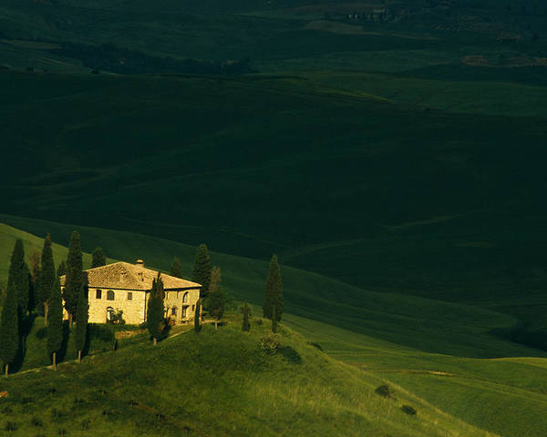 Tuscany. Tuscan. Toscana Poster featuring the photograph Farmhouse Tuscan by Andrew Soundarajan