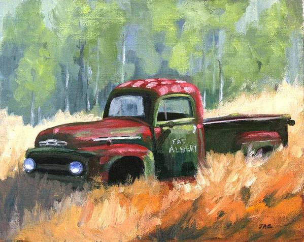 Vintage Truck Poster featuring the painting Fat Albert by Julia Grundmeier
