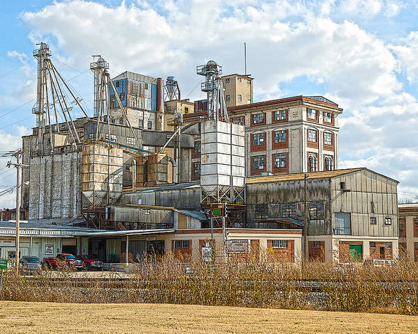 Feed+mill Poster featuring the photograph Feed Mill Hdr by Charles Beeler