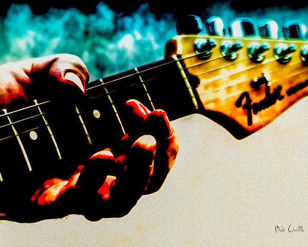 Fender Poster featuring the photograph Fender Strat by Bob Orsillo