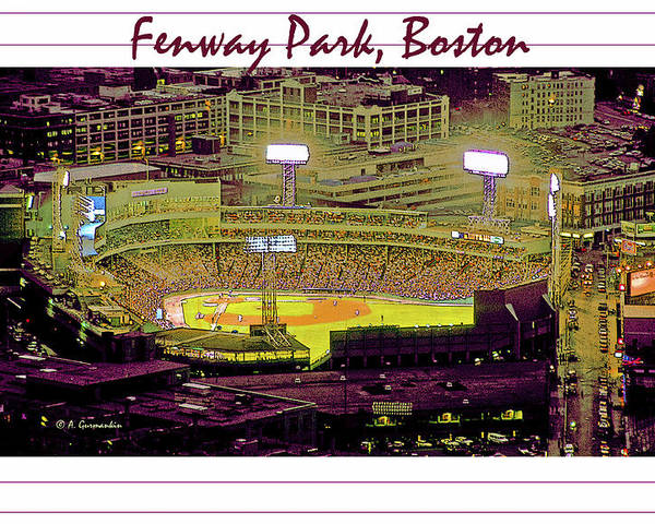 America's Pastime Poster featuring the photograph Fenway Park Boston Massachusetts Digital Art by A Gurmankin