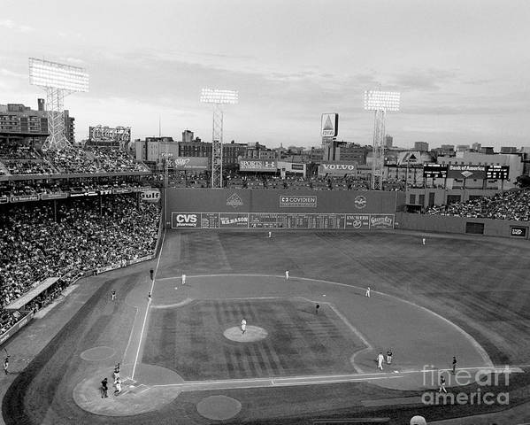 Fenway Park Poster featuring the photograph Fenway Park Photo - Black And White by Horsch Gallery