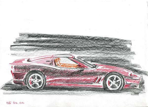 Auto Poster featuring the painting Ferrari 550 by Ildus Galimzyanov