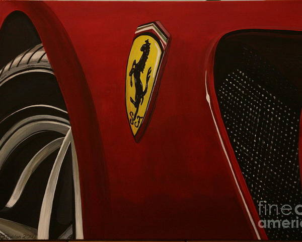 Ferrari Poster featuring the painting Ferrari 599 Gtb Fiorano by Richard John Holden RA
