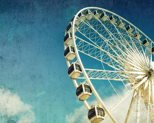 Wheel Poster featuring the photograph Ferris wheel retro by Jane Rix