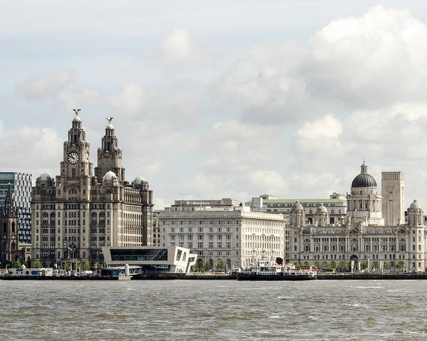 Ferry Poster featuring the photograph Ferry At Liverpool by Spikey Mouse Photography