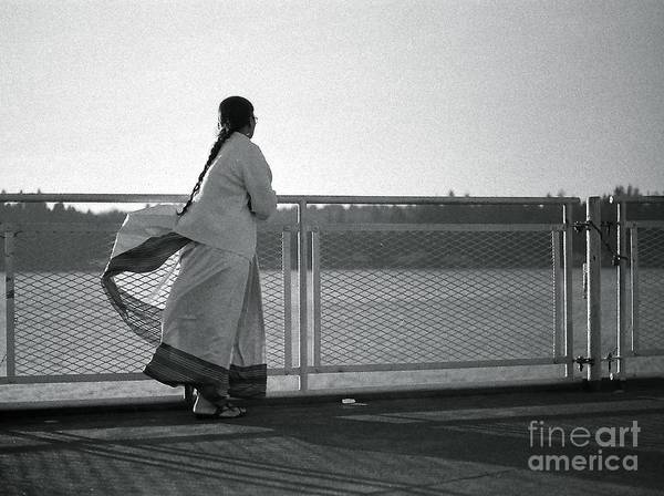 Black And White Photograph Poster featuring the photograph Ferry Boat Ride by Tracey Levine