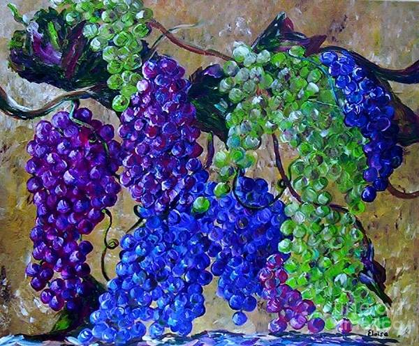 Grapes Poster featuring the painting Festival Of Grapes by Eloise Schneider