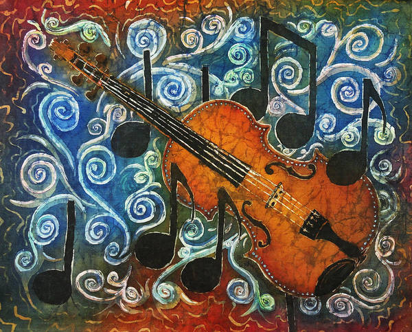 Fiddle Poster featuring the painting Fiddle 1 by Sue Duda